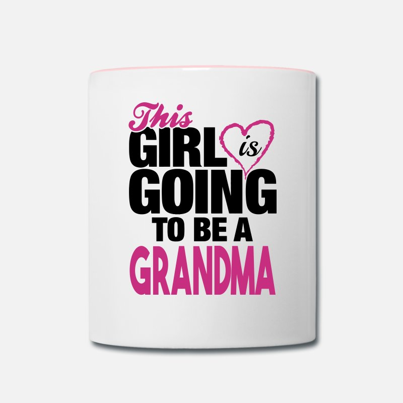 Grand Parents Mugs & Drinkware - This Girl Is Going to Be A Grandma - Two-Tone Mug white/pink