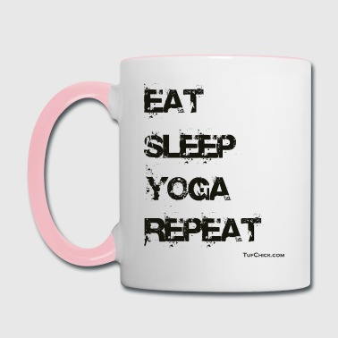 Eat Sleep Yoga Repeat TC - Contrast Coffee Mug
