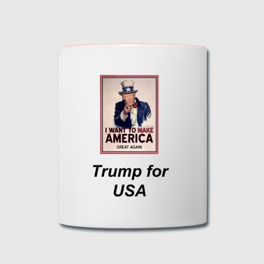 OFFICIAL Uncle Trump #TRUMP #MakeAmericaGreatAgain - Contrast Coffee Mug