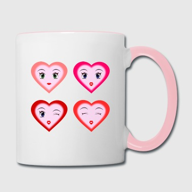 Cute Hearts - Contrast Coffee Mug