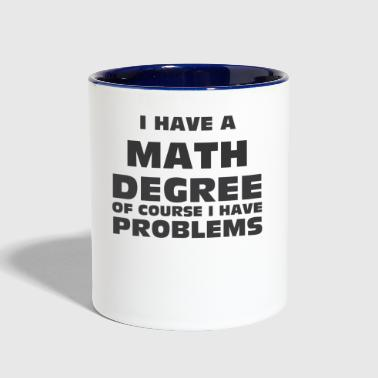 Math Degree - Contrast Coffee Mug