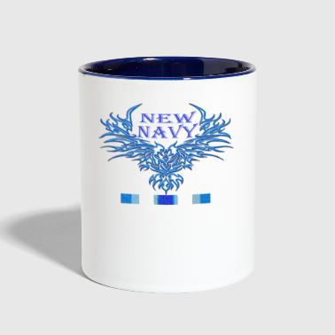 new navy - Contrast Coffee Mug