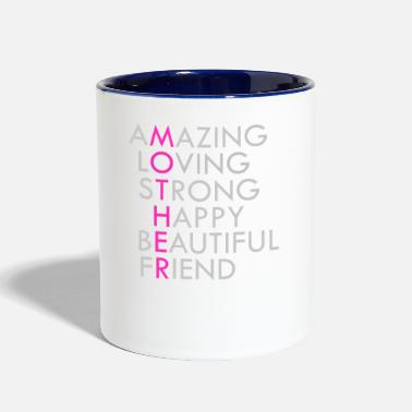 Acronym Mother Acronym Beautiful Inspirational - Contrast Coffee Mug