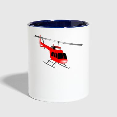 helicopter - Contrast Coffee Mug