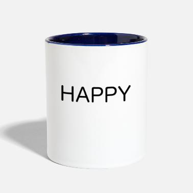 Happiness HAPPY - Contrast Coffee Mug