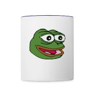 Elegant Happy Pepe   FeelsGoodMan   Contrast Coffee Mug