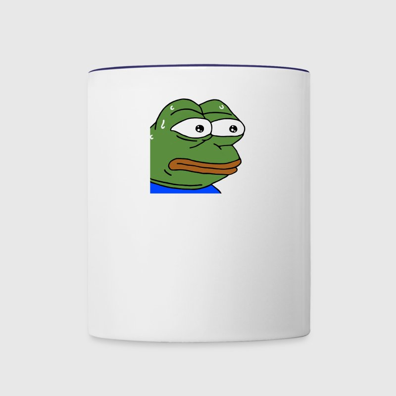 Nervous Pepe - monkaS (Twitch Emote) - Contrast Coffee Mug