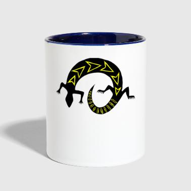 lizard - Contrast Coffee Mug