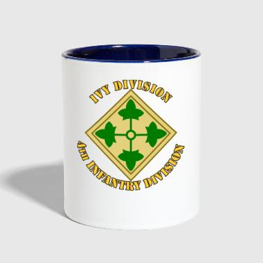 4th Infantry Division - Contrast Coffee Mug