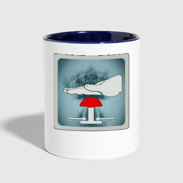 nuclear threat - Contrast Coffee Mug