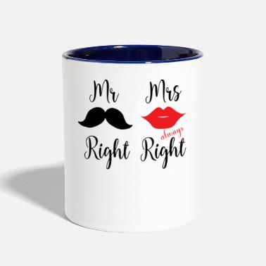 Right Mr & Mrs Right - Contrast Coffee Mug