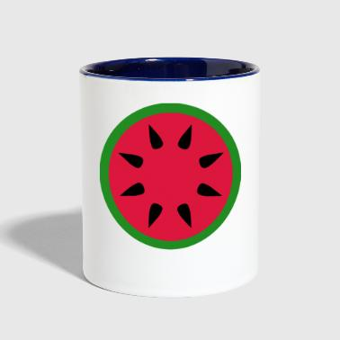 watermelon - Contrast Coffee Mug