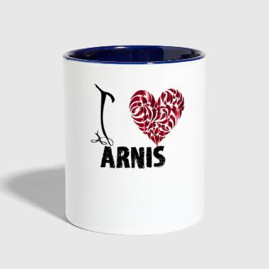 I Love Arnis - Contrast Coffee Mug