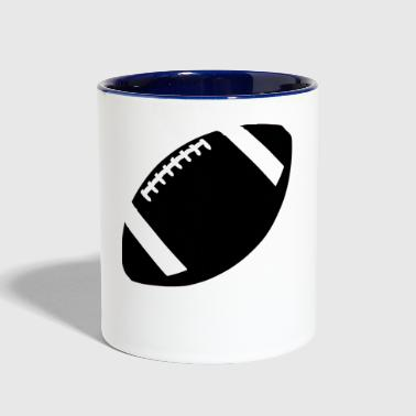american football - Contrast Coffee Mug