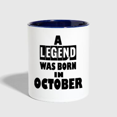october - Contrast Coffee Mug