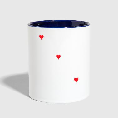 Love love and love - Contrast Coffee Mug
