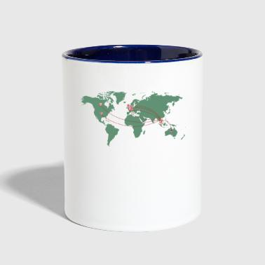 Map - Contrast Coffee Mug