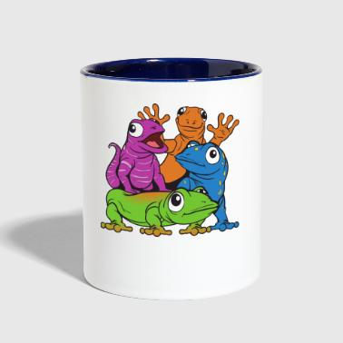 Lizards - Contrast Coffee Mug