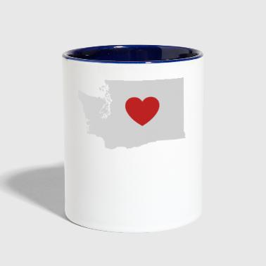 Washington Love Heart - Contrast Coffee Mug
