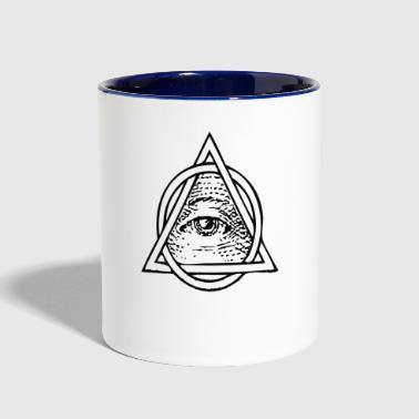 All Seeing Eye - Contrast Coffee Mug