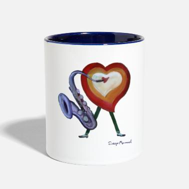 Corazon Corazon de jazz - Contrast Coffee Mug