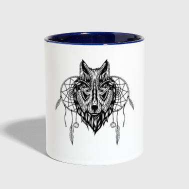 Wolf design t shirt - Contrast Coffee Mug