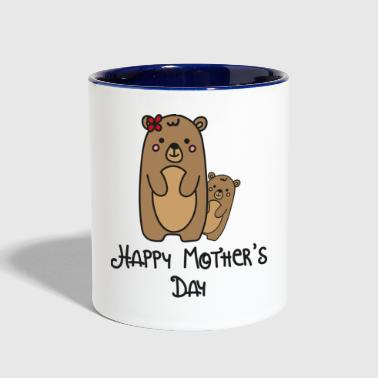 Mother Day Mothers Happy - Contrast Coffee Mug