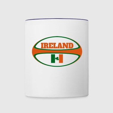 Ireland Flag Rugby Ball - Contrast Coffee Mug