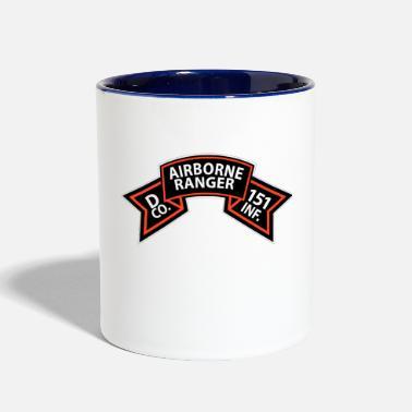 Ranger Infantry D Co 151st Infantry - Airborne Ranger Scroll - Two-Tone Mug