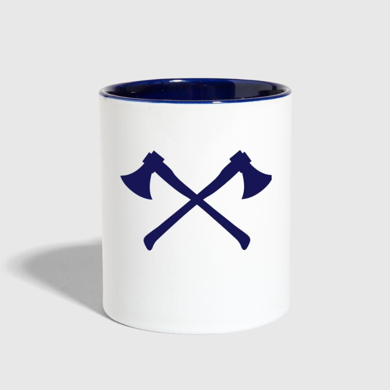 Two Axes - Crossed Axes - Contrast Coffee Mug