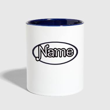 NAME - Contrast Coffee Mug
