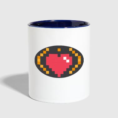Digital Heart Isle | by Isles of Shirts - Contrast Coffee Mug