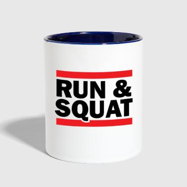 Run Squat Black on Light - Contrast Coffee Mug