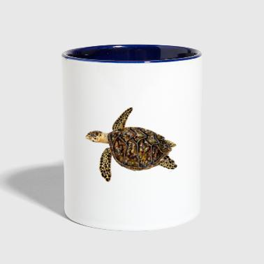 Hawksbill turtle - sea turtle - Contrast Coffee Mug
