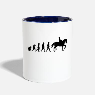 Equitation Evolution Horses Riding Harness Racing Equitation - Contrast Coffee Mug