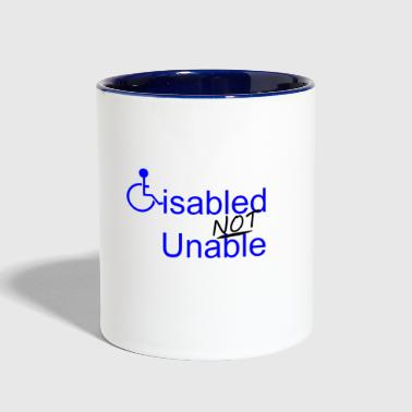 Disabled Not Unable - Contrast Coffee Mug