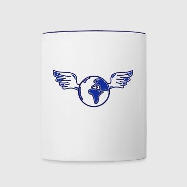earth with wings - Contrast Coffee Mug