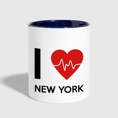 I Love New York - Contrast Coffee Mug