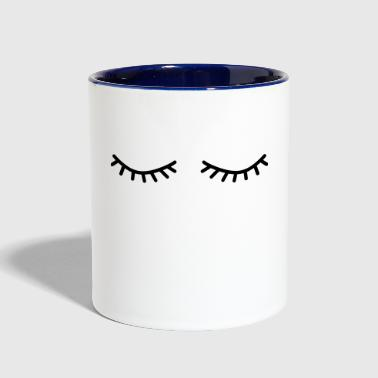 Eyelashes flutter eyelashes - Contrast Coffee Mug