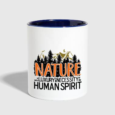 Nature is not a luxury - Contrast Coffee Mug