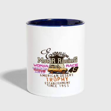 motor racing - Contrast Coffee Mug