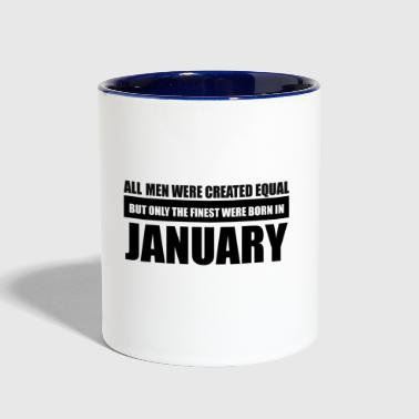 All men were created equal January designs - Contrast Coffee Mug