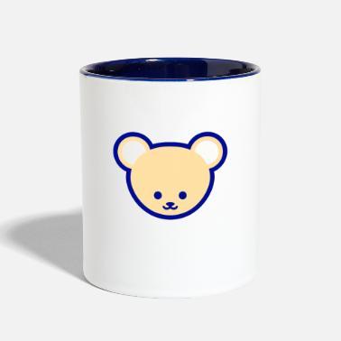 Teddy Bear Vector Cute Teddy Bear Cartoon - Two-Tone Mug fa267d6874b7