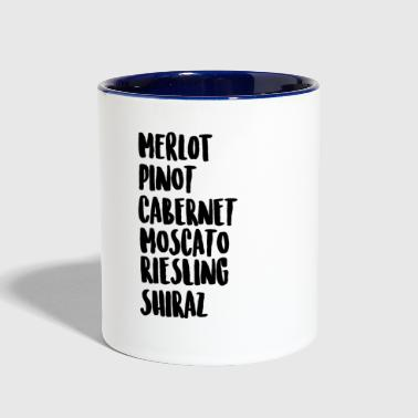 Wine On Wine - Contrast Coffee Mug