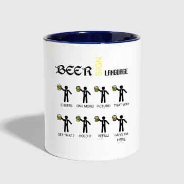 Beer Sign Language - Contrast Coffee Mug