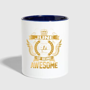 June 1976 42 Years Of Being Awesome - Contrast Coffee Mug