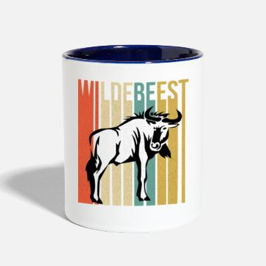 Wildebeest Funny Wildebeest - Large Wild Animal - Humor - Two-Tone Mug