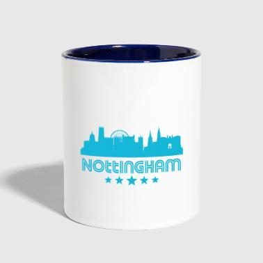Retro Nottingham Skyline - Contrast Coffee Mug