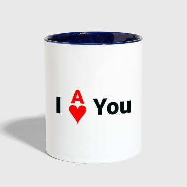 I Ace of Hearts you | I love you - Contrast Coffee Mug