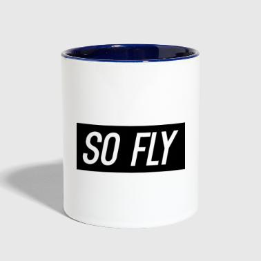 So Fly logo design - Contrast Coffee Mug
